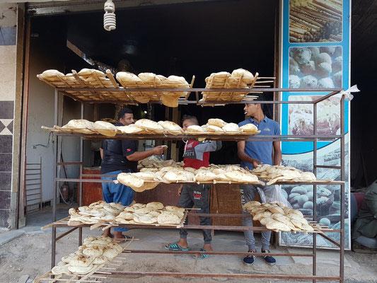 Verkauf von ägyptischem Fladenbrot