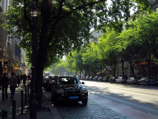 Geschäftsstraße Andrássy út