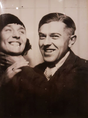 Photo-Booth Portrait of Georgette and René Magritte, Paris, 1929