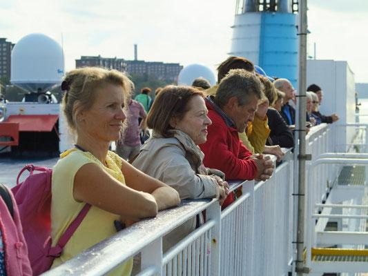 Kurz vor dem Landgang in Stockholm