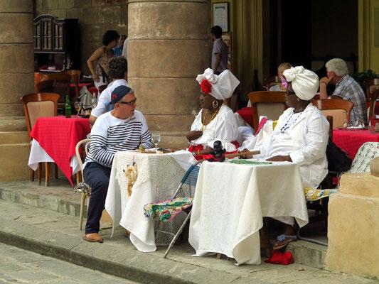 Wahrsagerinnen auf der Plaza de la Catedral