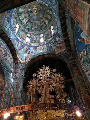 Kuppel mit Fresken in der Klosterkirche Morača