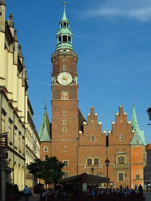 Westseite des Rathausturms