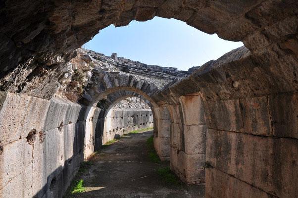 Gewölbekonstruktion als Unterbau