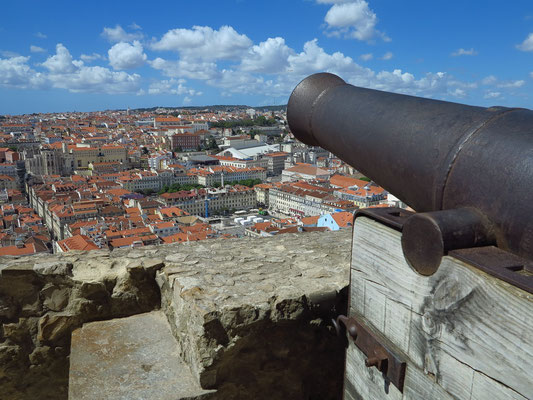 Castelo de São Jorge, Blick nach Nordwesten