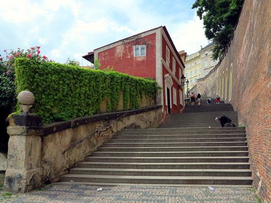 Zámecké Schody, Treppenaufgang zur Prager Burg
