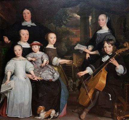 Abraham van den Tempeln: David Leeuw mit seiner Familie, 1671