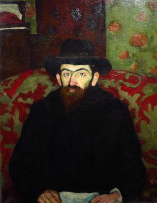 Vilmos Perlrott-Csaba: Porträt von Sándor Ziffer, ca. 1908