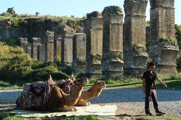 Druckleitung des Aspendos-Aquädukts, beim großen Erdbeben von 363 n. Chr. zerstört