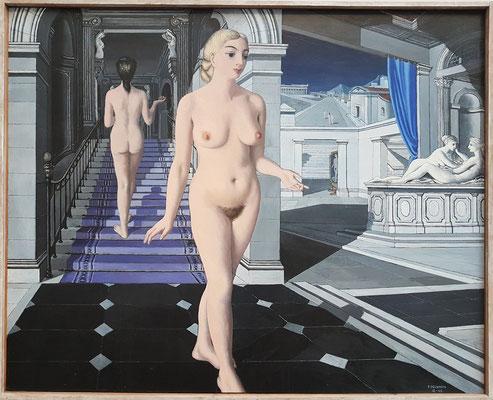 Paul Delvaux (1897 - 1994), Die Treppe, 1946