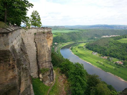 Blick von der Festung Königstein elbabwärts