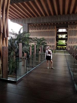 Lopesan Baobab Resort, Eingang, eine Atmosphäre, die an afrikanische Länder erinnert