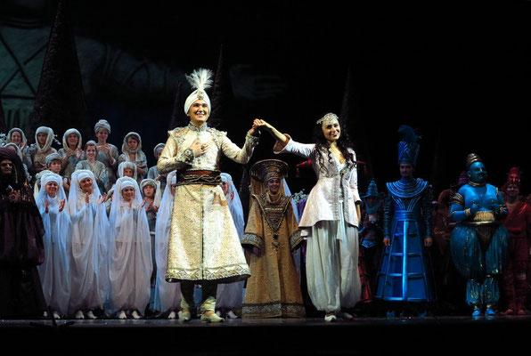 Stanislawski-Musiktheater, Aladino e la lampada magica, Applaus: Aladin und die Prinzessin