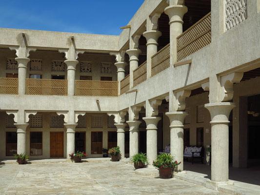Das Haus von Sheikh Saeed & Al-Maktoum, ehemaliger restaurierter Palast der Herrscherfamilie von Dubai