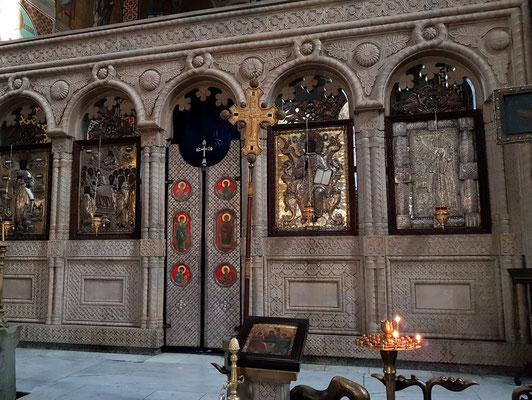 Ikonostase in der Sioni-Kathedrale