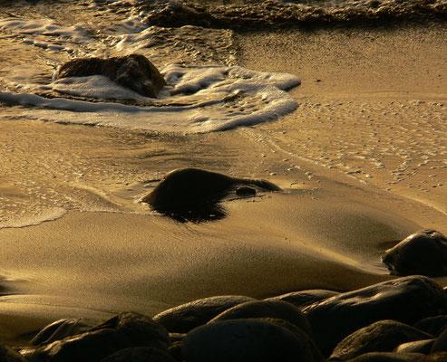 Licht des Sonnenuntergangs an der Playa de Valle Gran Rey