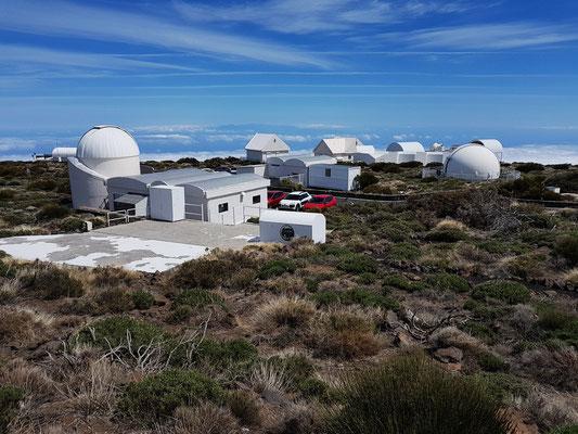 Blick vom Observatorio del Teide zur Insel Gran Canaria