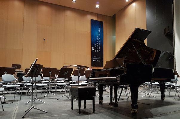Bühne des Auditorio vor dem Konzert