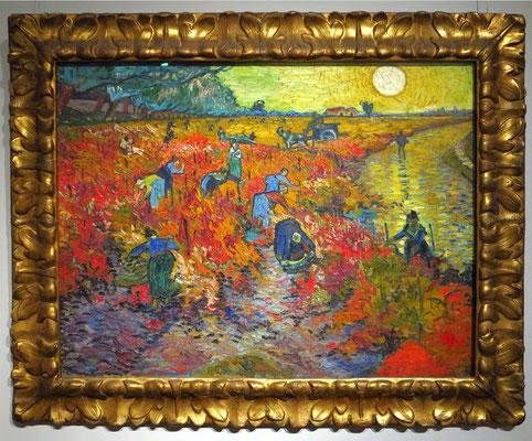 """Vincent van Gogh (1853 - 1890): """"Der rote Weingarten bei Arles (Montmajour)"""", 1888"""