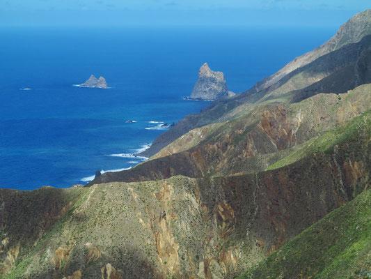 Blick von der TF-134 nach NO auf die Nordküste Teneriffas
