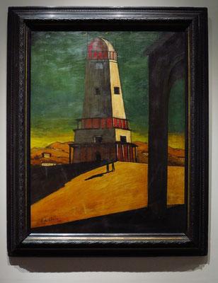 """Giorgio de Chirico (1888 - 1978): """"Der große Turm"""", 1921"""