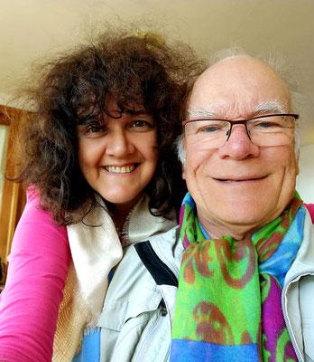 Sabine und Frank zum Café im Parador de El Hierro