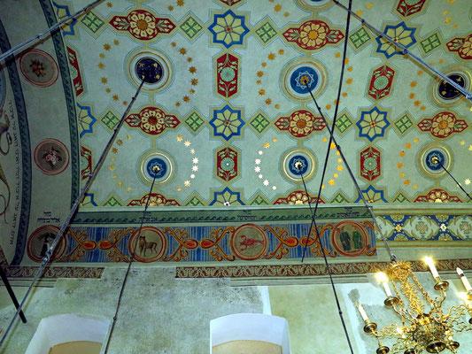 Decken-Dekoration in der Remuh-Synagoge