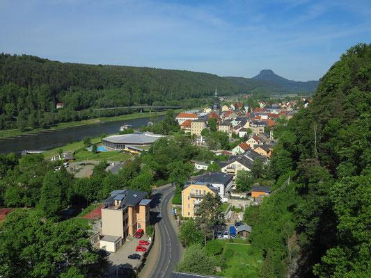 Blick vom Aufzug nach Westen auf Bad Schandau