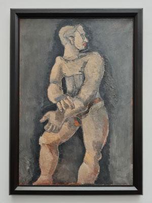 Helmut Kolle (1899-1931): Lebensgroßer männlicher Akt, 1925/26, Öl auf Leinwand