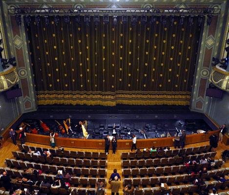 Bolshoi-Theater, New Stage, Blick vom Rang auf die Bühne