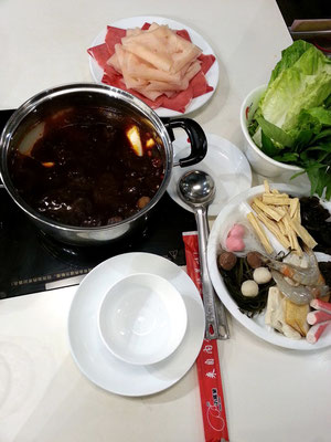 Im chinesischen Restaurant Xiao Wei Yang Hotpot in Deira