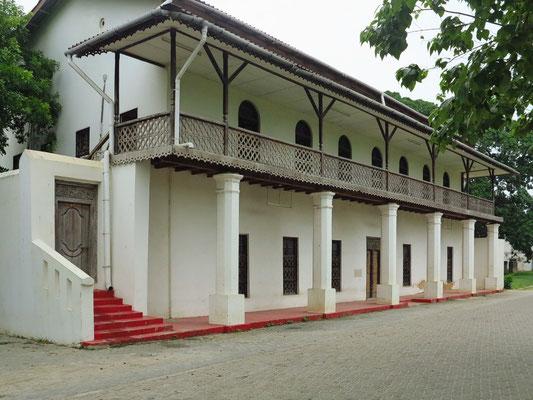 Bagamoyo, ehemaliges arabisches Teehaus,  in der deutschen Kolonialzeit als Offiziers- Krankenhaus genutzt, 1860