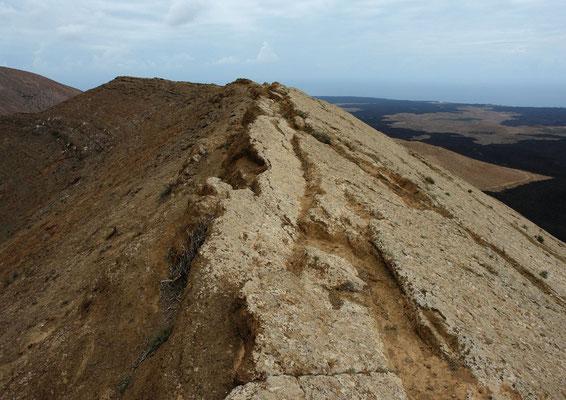 Rand der Caldera de Montaña Blanca