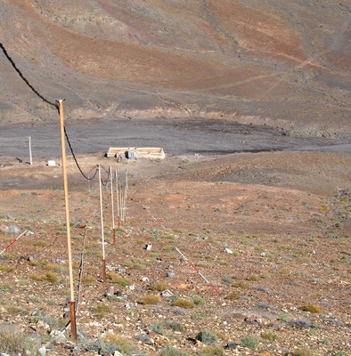 Punta de la Entallada, Blick vom Leuchtturm auf die Badlands