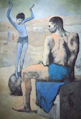 """Pablo Ruiz Picasso (1881 - 1973): """"Junger Akrobat auf einem Ball"""", 1905"""