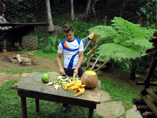 Zubereitung von Gemüse und Obst