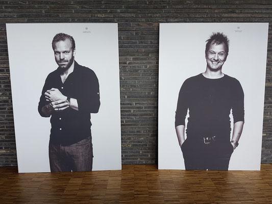 Künstlerfotos: Mads Rømer Brolin-Tani (links) und Rasmus Fruergaard