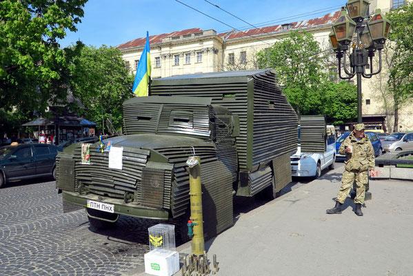 Spenden sammeln für den Transport des Fahrzeugs in das Kriegsgebiet im Osten der Ukraine
