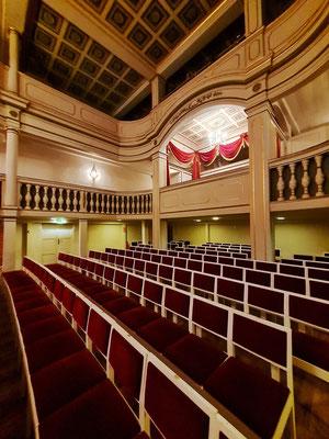 Zuschauerraum des Ekhof-Theaters mit 165 Sitzplätzen
