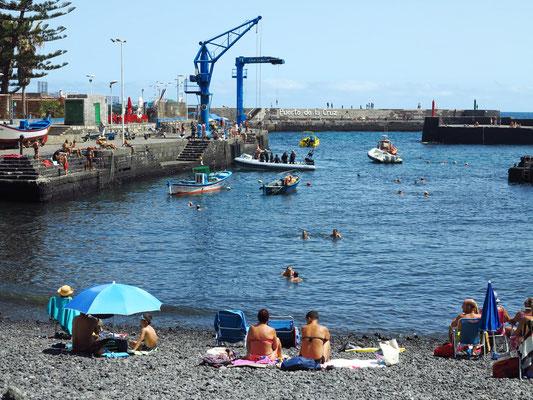 Playa delle Muelle und Alter Hafen von Puerto de la Cruz