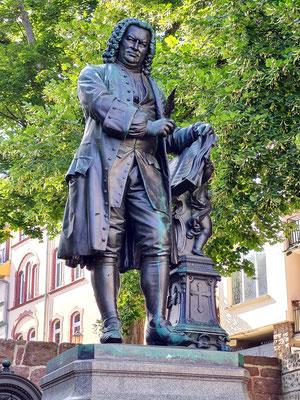 Bachdenkmal von Adolf von Donndorf auf dem Frauenplan, ursprünglich vor der Georgenkirche, 1884 enthüllt