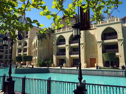 Hotel The Palace, Blick von der Westseite des Souk Al Bahar