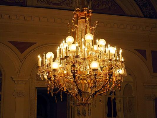 Bolshoi-Theater, Kronleuchter im Pausenfoyer