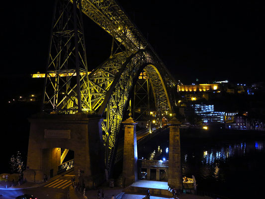 Ponte Luís I, Blick von Ribeira