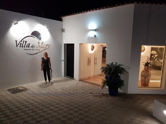 Eingang des neuen Restaurants Villa del Mare (30. 11. 2017)