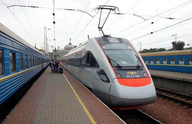 IC 762 von Odessa nach Kiew