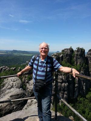 Am Ziel: Aussichtspunkt auf die Schrammsteine