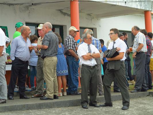 Dorffest in Salao, Männergruppe