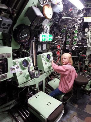 Steuerstand des U-Bootes U 9