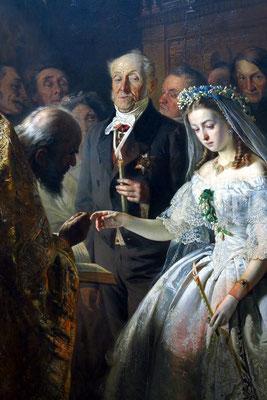 """Vasiliy V. Pukirev (1832 - 1890): """"Die ungleiche Hochzeit"""", 1862"""